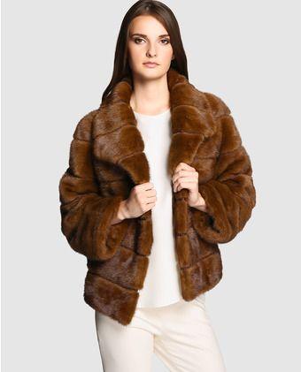 Abrigo de visón de mujer El Corte Inglés en color marrón en 2019 ... 1d39efe5b03d