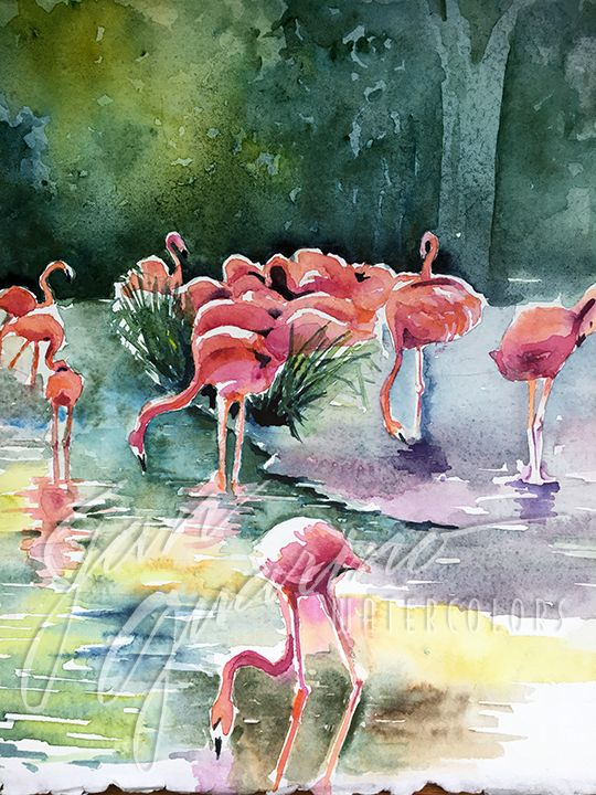 """Lawn Ornaments"" but they are real! Love this tropical scene"