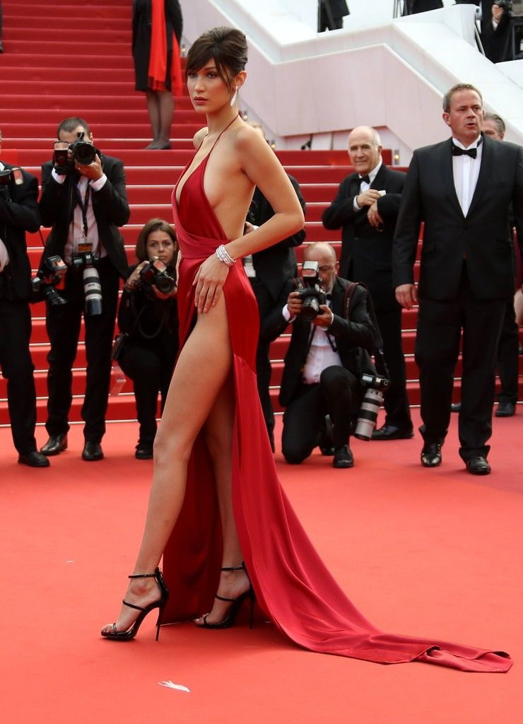 491c6ac3 Bella Hadid in Alexandre Vauthier, 2016 - The Most Daring Dresses on the  Cannes Red Carpet - Photos