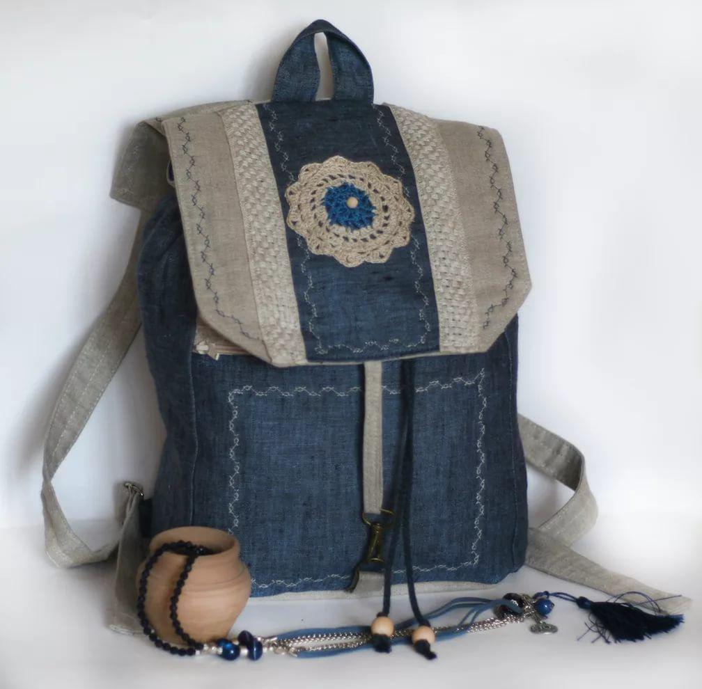 молодёжные выкройка рюкзаки