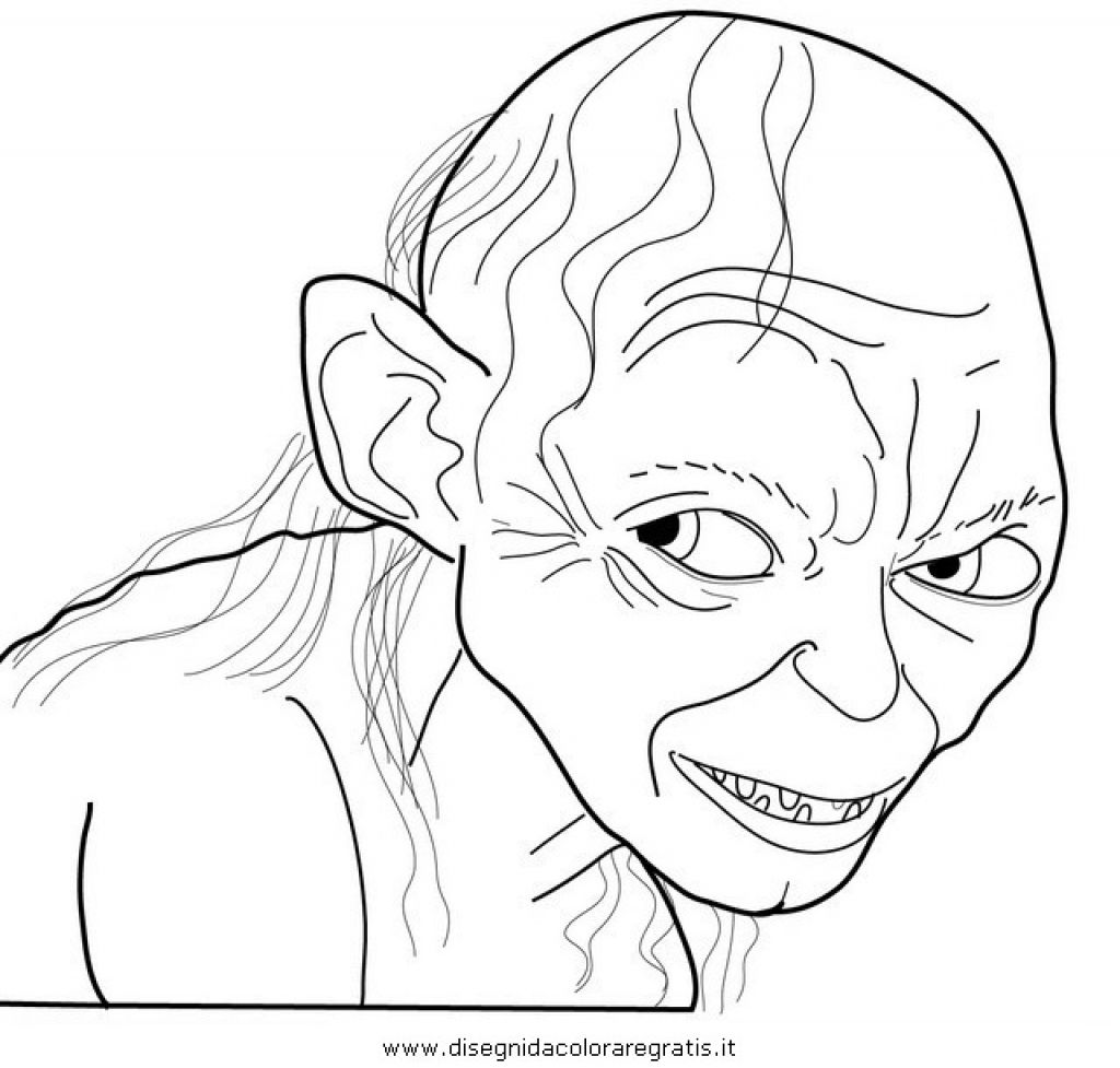 Cunning Smeagol From The Hobbit Coloring Page To Print | Fantasy ...