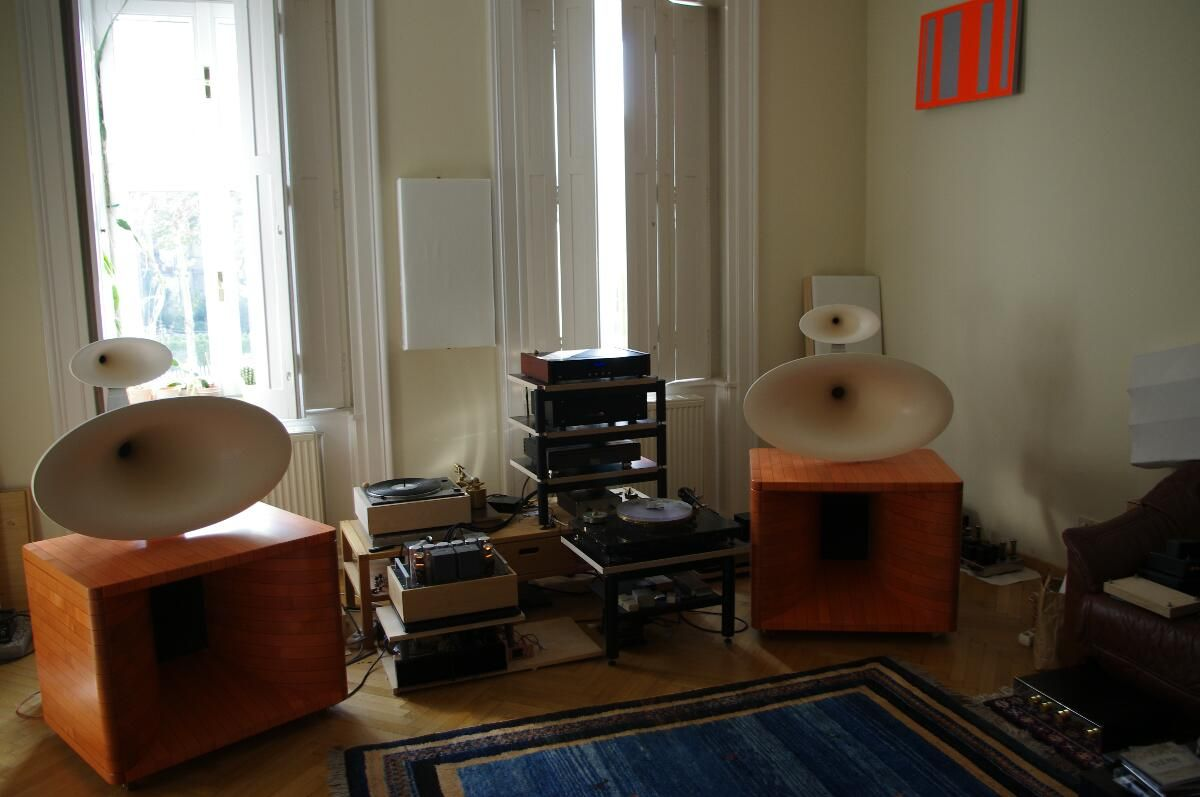 the audio eagle the haigner gamma 3 way horn loudspeaker. Black Bedroom Furniture Sets. Home Design Ideas