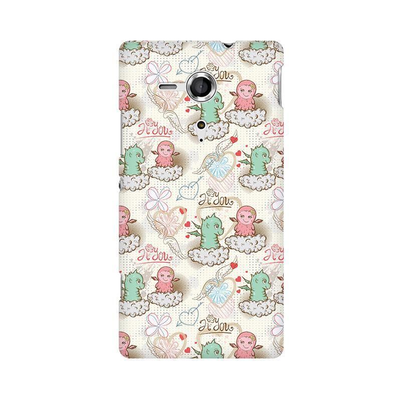 Cute Dragon Love Phone Case for Sony Xperia SP M35H