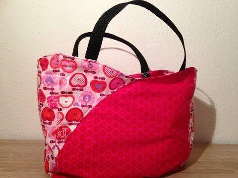 Mini Shopper Tasche nähen Anleitung DIY kostenloses Schnittmuster zum Ausdrucken…