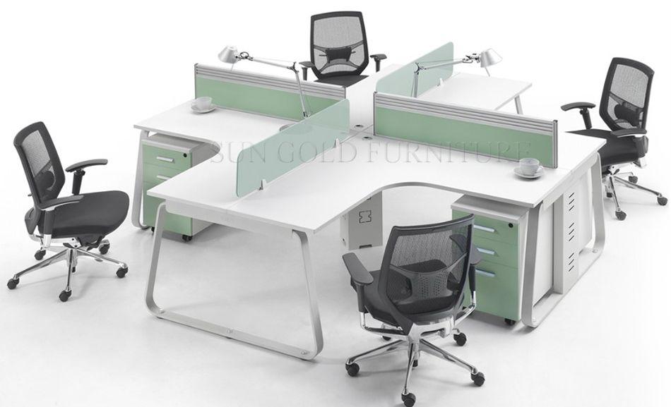 Modern Workstation Office Furniture Office Computer Desk For 3