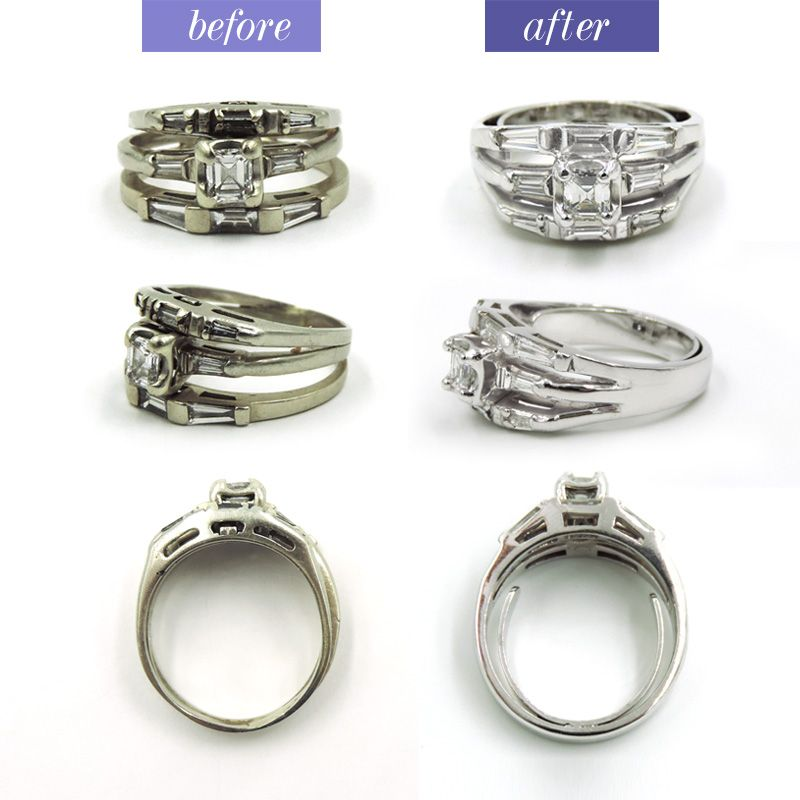 Cleaning Rings: A Deep Cleaning And Fresh Rhodium Dip Give This Wedding