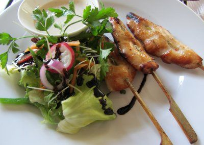 Stephen Nottingham's Food Blog: The Blacksmiths Arms, Llanmaes ginger and lemongrass chicken sticks (tepo gushi)