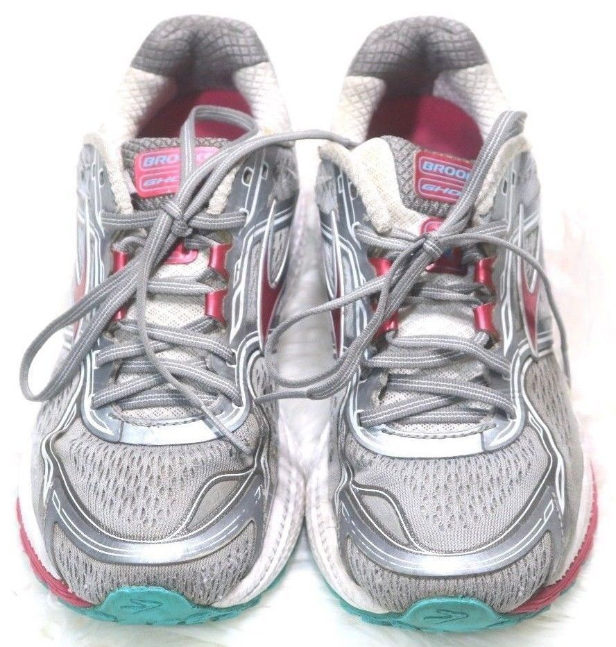 e15172b067c38 Brooks Ghost 8 Womens Running training Shoes Gray Pink Silver Size 9 M   Brooks  RunningShoes