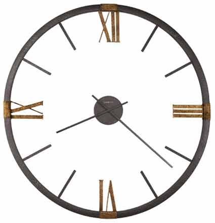 Howard Miller Prospect Park 625 570 60 Inch Wall Clock In 2020 Oversized Wall Clock Metal Wall Clock Gold Wall Clock