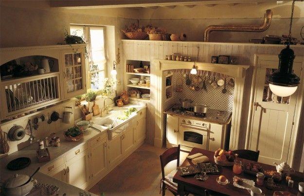 Stile inglese per la cucina - Una cucina realizzata con mobili in ...