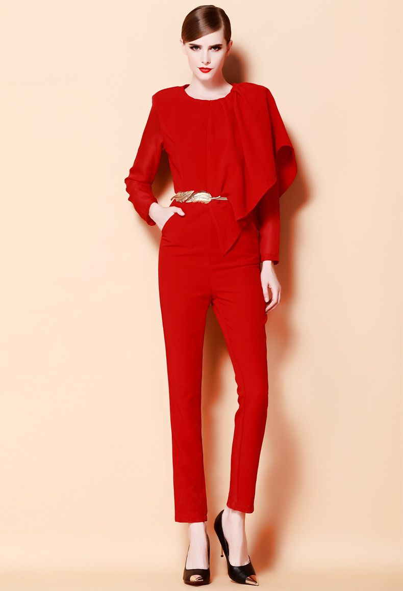 Fair Red Jumpsuit | tenuestyle | Beautiful Red Jumpsuit Ideas ...
