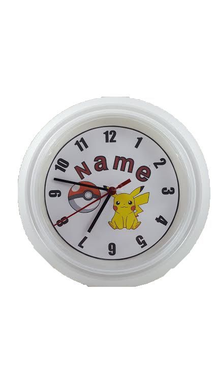 Personalized Wall clock inspired by Pokémon