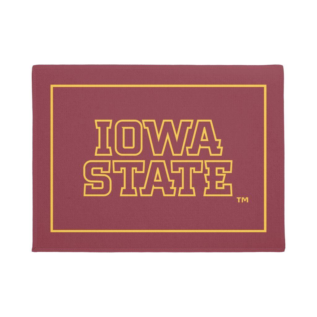 Iowa State University Block Design Doormat #iowastateuniversity