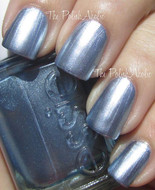 Essie Blue Rhapsody is a light silvery blue! | Nails | Pinterest