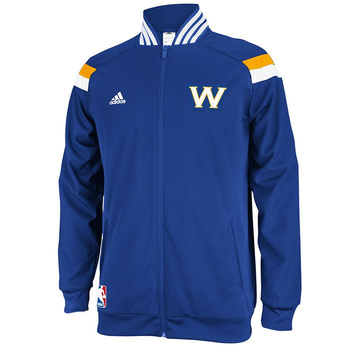 Denver Nuggets Adidas On Court Warm Up Jacket: Golden State Warriors Adidas On-Court Jacket