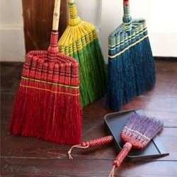 handmade broom set from vivaterra who knew brooms could be so