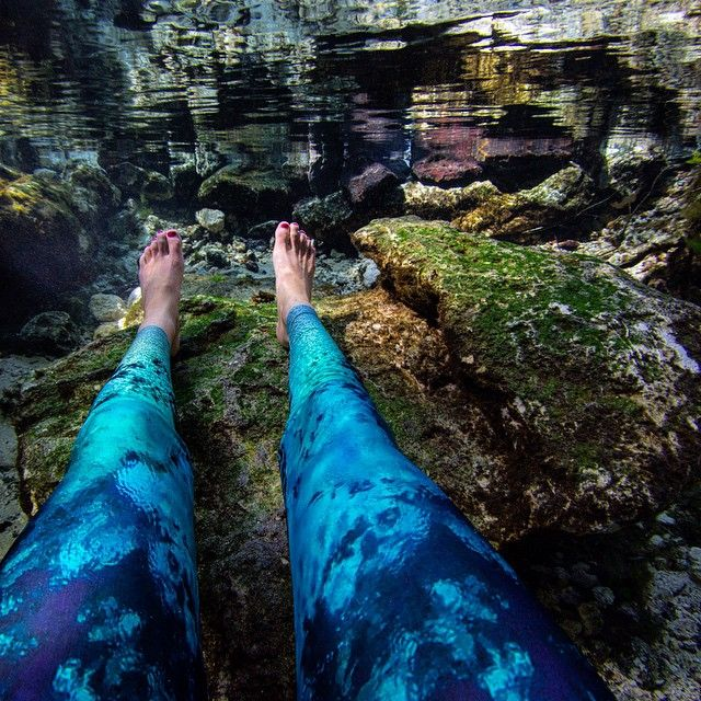 8d1783fc36 Leggings for mermaids!! Fountain of Youth print inspired by the Florida  Springs. Waterlust.org/shop