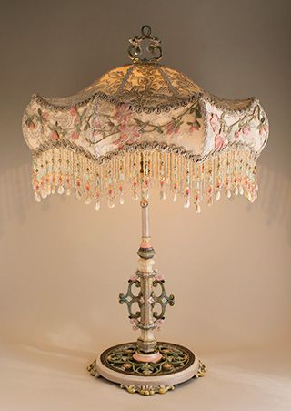 Shabby Chic Antique Victorian Lampshade Victorian Lamps