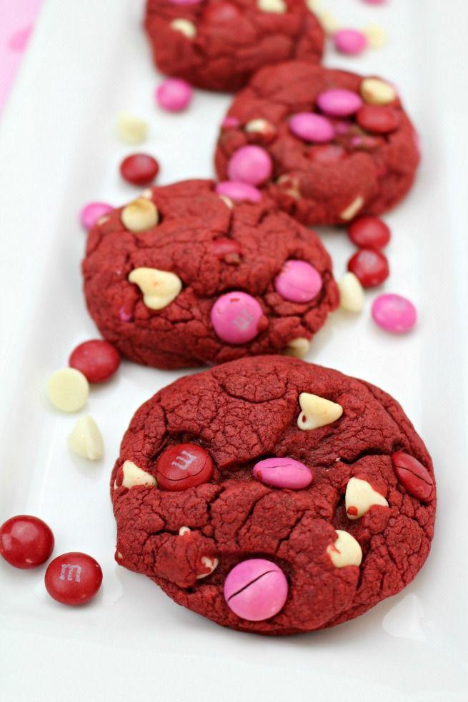 Easy Red Velvet Valentine Cookies Recipe Pinterest Cookie
