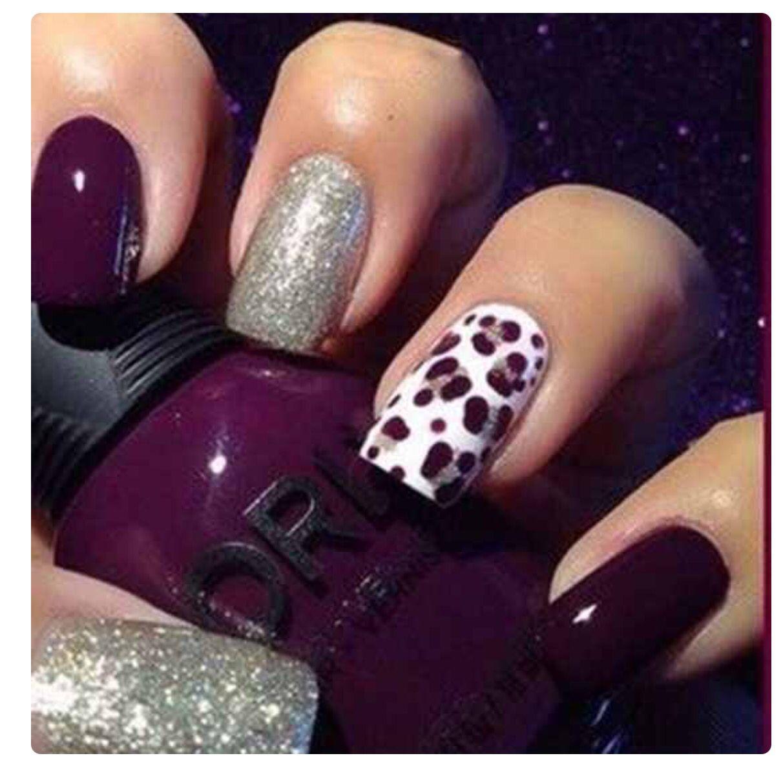 Purple nails | Nails | Pinterest | Purple nail, Mani pedi and ...