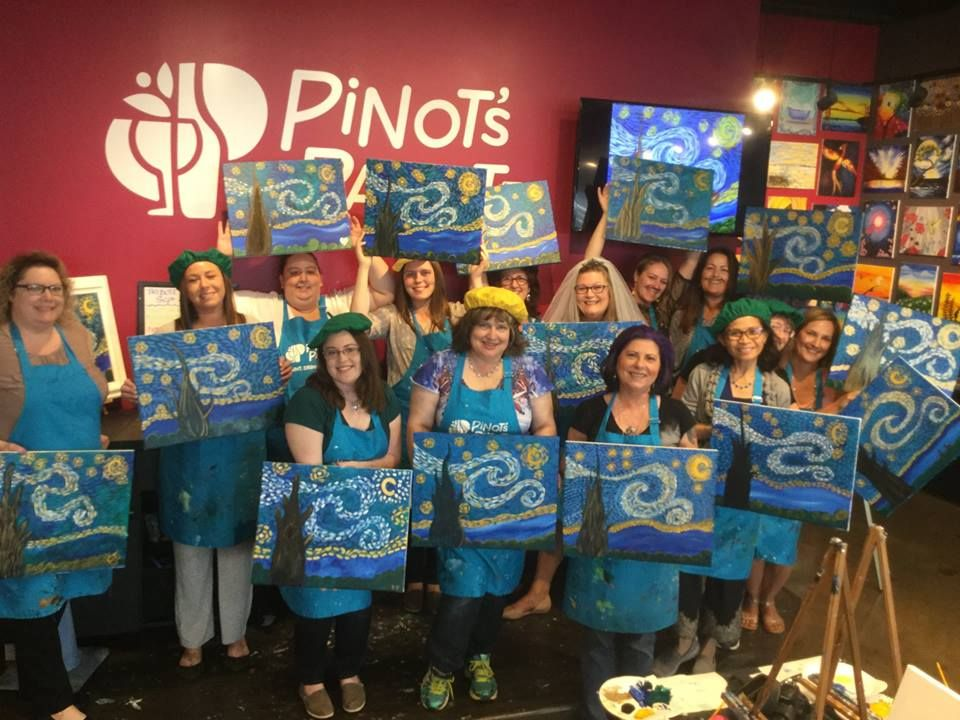 dc66fa207d2d Sharon s Wedding Shower Party! Host an exclusive paint and sip party in  studio to make lasting memories. Private events are perfect for a girl s  night out
