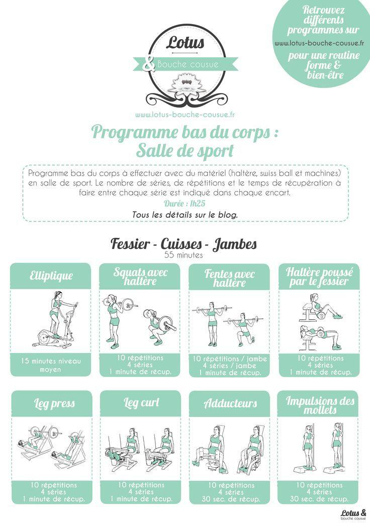 fitness   programme bas du corps en salle de sport