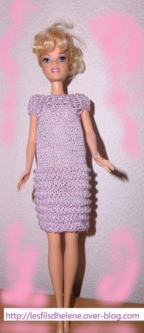 Robe Barbie Au Tricot Avec Lien Pour Les Explications