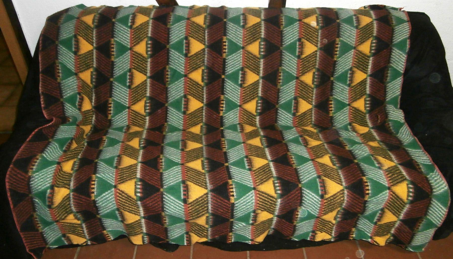 Retro Vintage Blankets Dekens Wolldecken 50s Wolldecke Decken