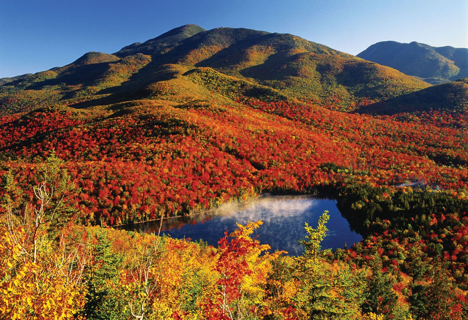 The Adirondack Mountains In Autumn