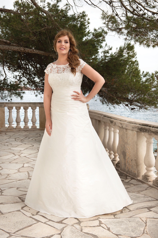 Wedding Dress Trouwjurk Bruidsjurk Taft Tule Plus