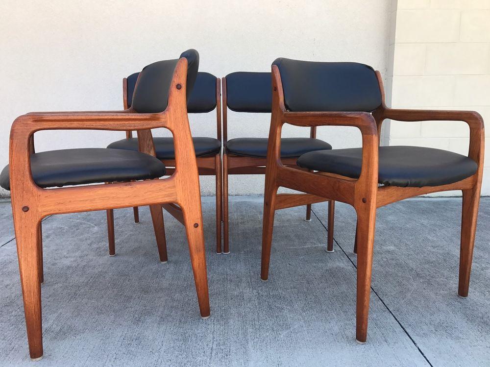 Mid Century Danish Modern Benny Linden Dining Chairs Ebay Mid