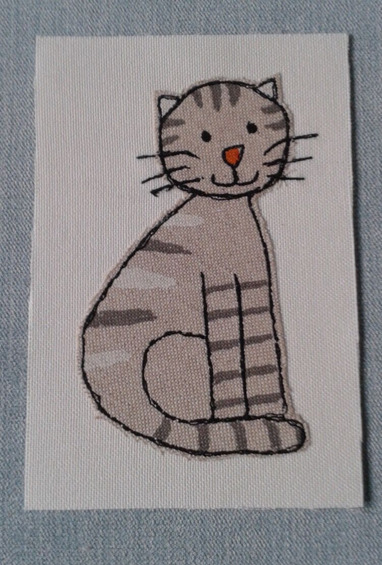 Cat free motion embroidery idea … | Pinteres…
