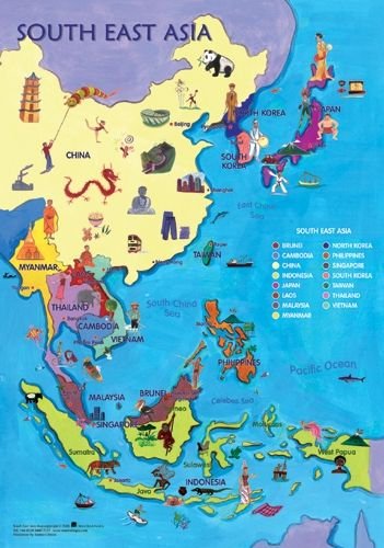 World Map Of Southeast Asia.Map Of Southeast Asia Esl Sei For Teachers Asia Map East