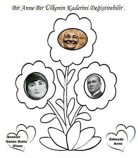 Tugba Vardar Adli Kullanicinin Ataturk Panosundaki Pin Boyama Sayfalari Anneler Gunu Faaliyetler