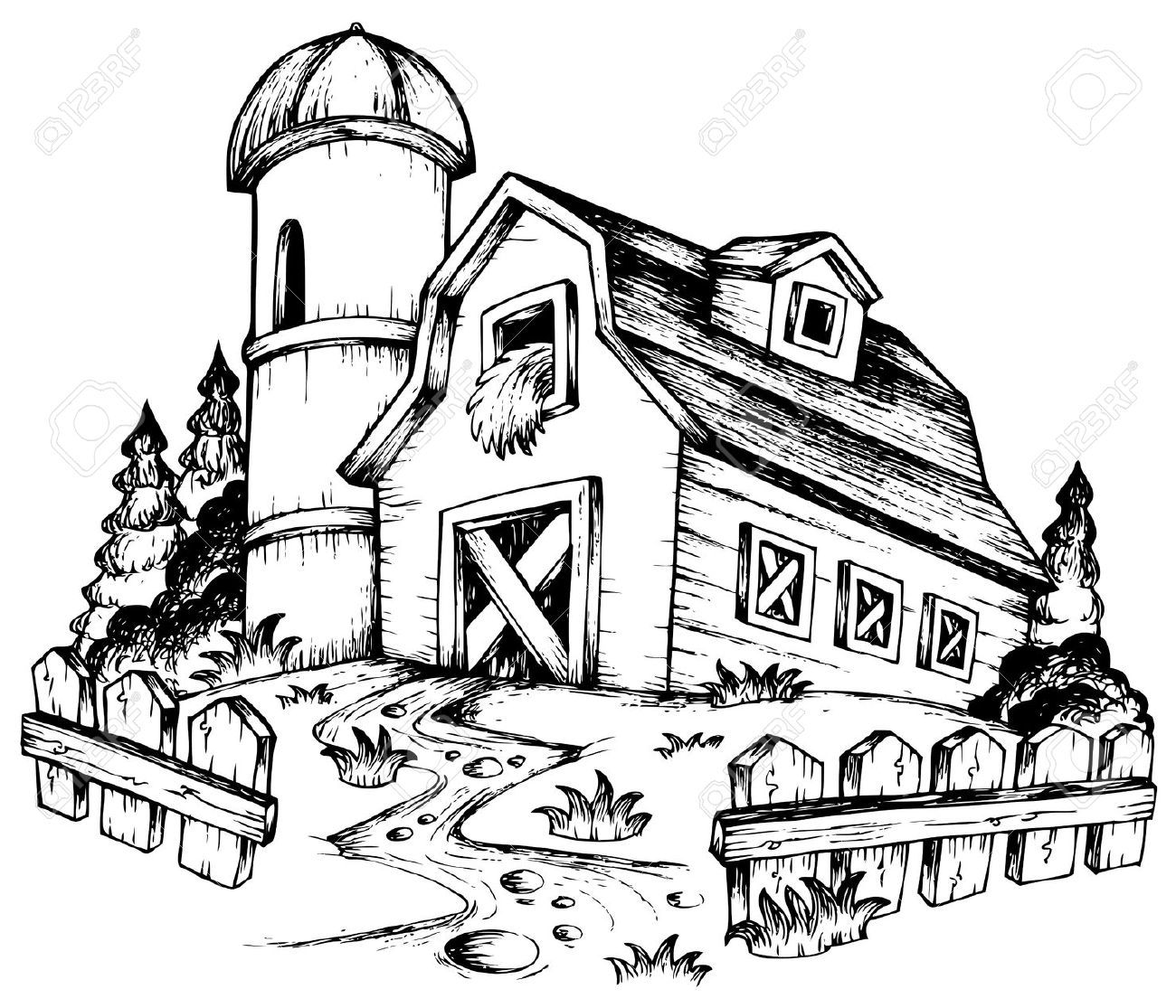 explore farm theme image search engine and more - Barns Coloring Pages Farm Silos