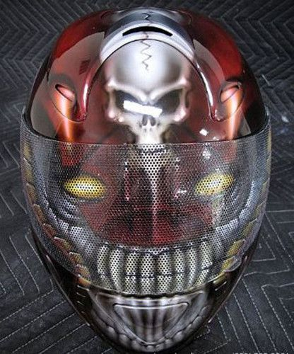 Custom Alien Skull Motorcycle Helmet Ebay Shop Alera Of Thailand Helm