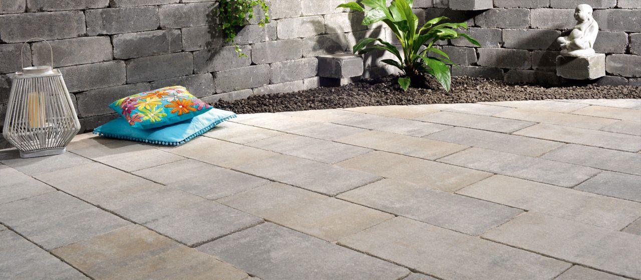 terrassengestaltung mit germania antik pflastersteinen in. Black Bedroom Furniture Sets. Home Design Ideas
