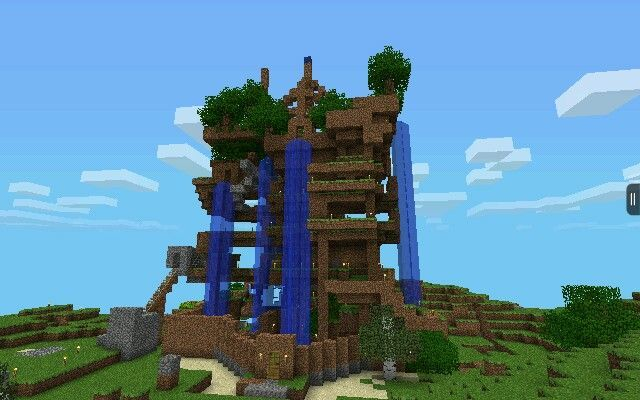 My siblings and I made this epic house in minecraft PE. Epic Minecraft Mansions   Minecraft Epic House Pe