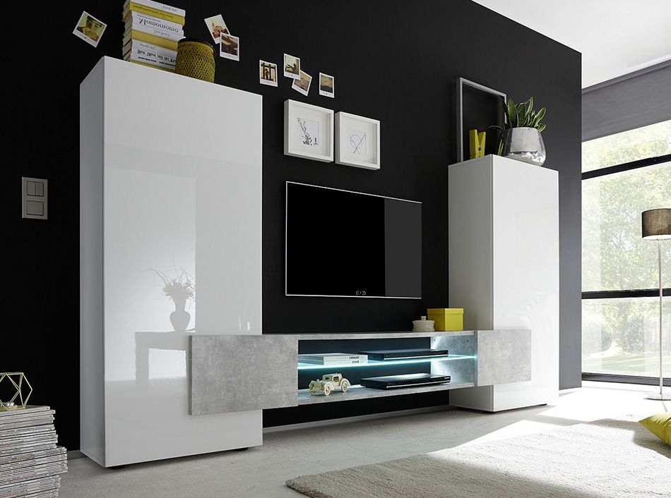 Modern Wall Unit / TV Stand Incastro by LC Mobili - $1,04900 - muebles en madera modernos