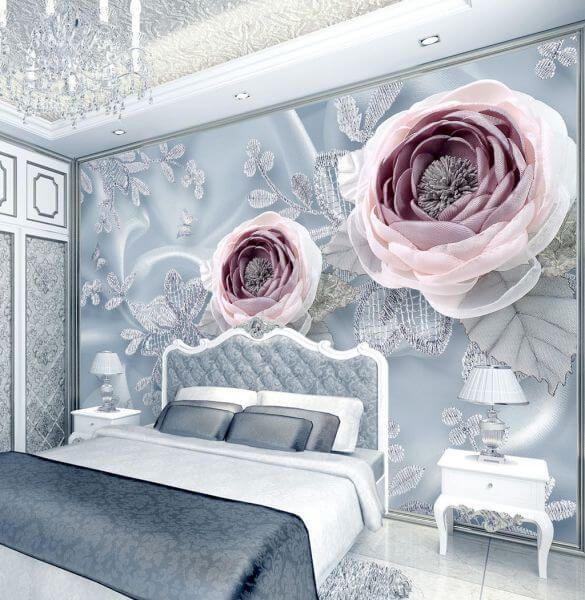 Fototapeta Kwiaty Bzu 25129 Uwalls Pl Floral Wallpaper Rose Wall Flower Wall Art
