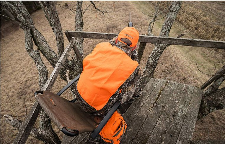 Swivel Hunting Chair Seat Arm Rest Deer Blind Tree Stand