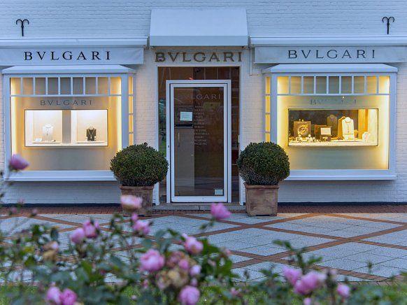Die Boutique von Bulgari befindet sich unweit des Strönwais auf der Hauptstraße 15 in Kampen.