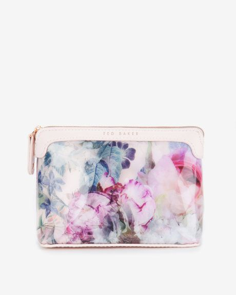 68c2f20206e4ea Large pure peony cosmetic bag - Dusky Pink