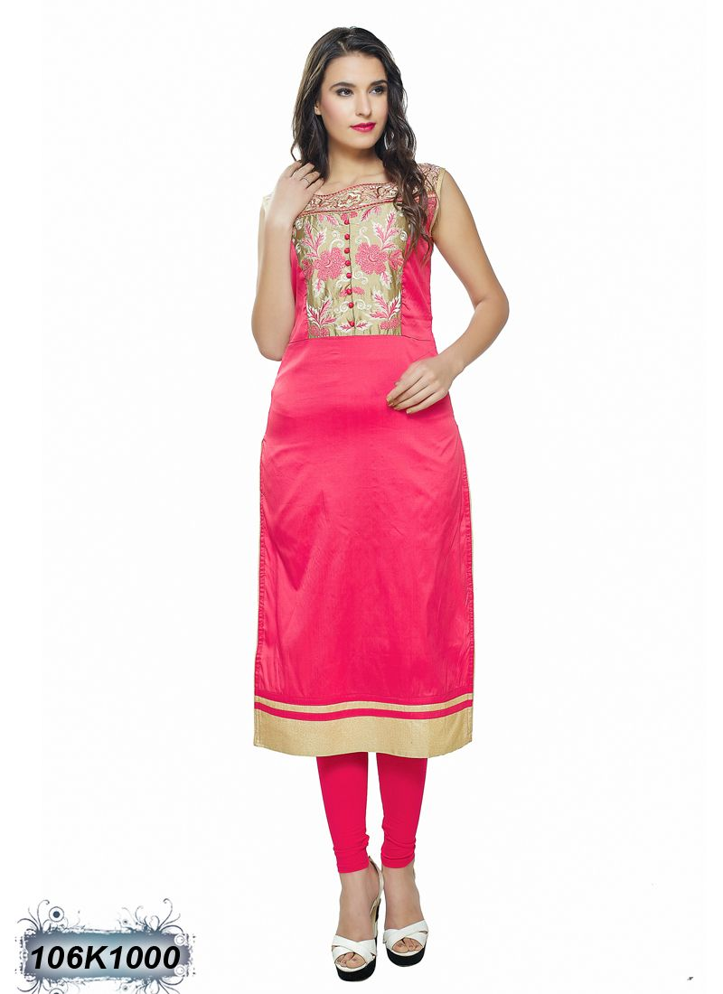 e5b7fea462 Creative Cherry Coloured Polyester Satin Kurti | Designer Kurtis ...
