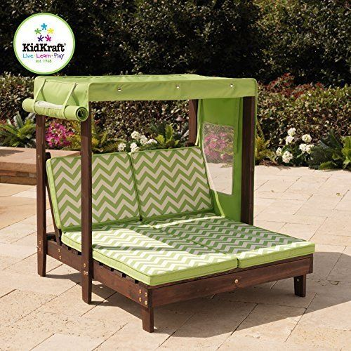 Amazon Com Kidkraft Outdoor Double Chaise Lounge Chair With