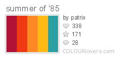 Palette Summer Of 85 Retro Color Palette Palette Summer Color Palette