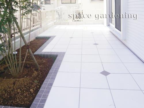 庭 テラス タイル デザイン タイルテラス 庭 リフォーム 庭
