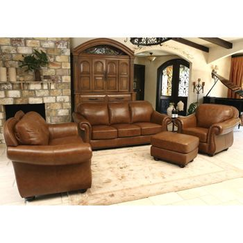 Costco Wholesale Leather Living Room Set Abbyson Living Leather Ottoman
