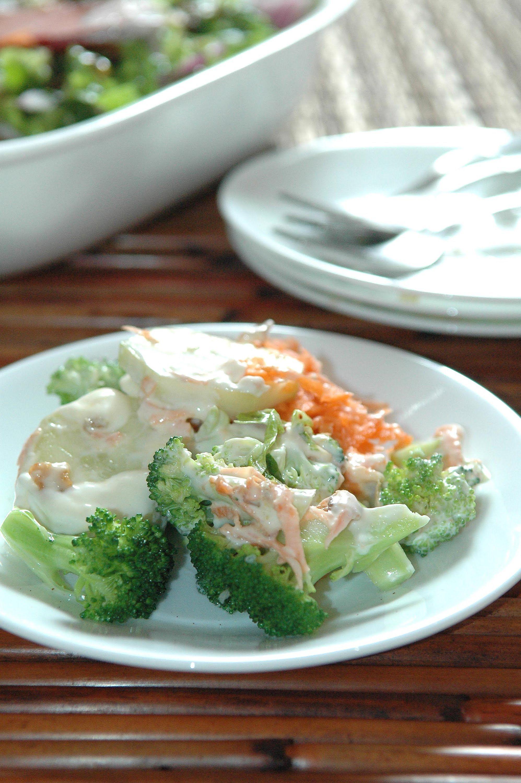 Ensalada De Brócoli Zanahoria Y Pepino Receta Fácil De