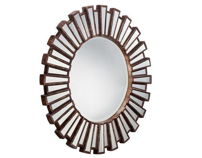 Large Round Sunburst Wall Mirror Art Deco Traditional